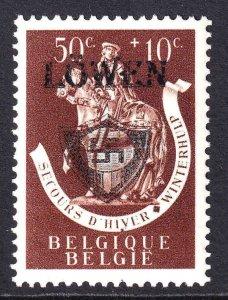 BELGIUM B334 WW2 LÖWEN OVERPRINT OG NH U/M VF BEAUTIFUL GUM