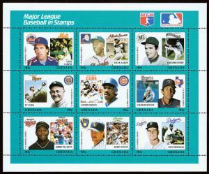 Grenada Scott 1671 Baseball Series (1988) Mint NH VF C