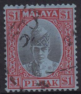PERAK 1938 SULTAN $1 USED