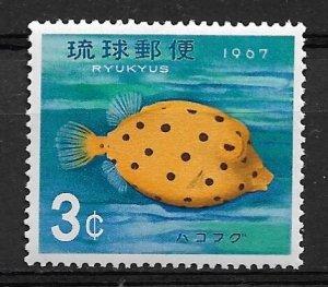 1967 Ryukyu Islands 152 Young Boxfish MNH