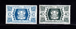Wallis and Futuna Islands 128, 131 MHR Carving