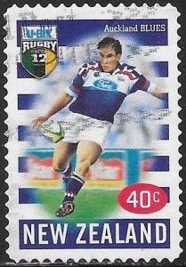 New Zealand 1587 Used - 1999 New Zealand U - Bix Rugby Super 12 - Auckland Blue