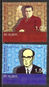 Bosnia 2011 Famous People Writers MNH