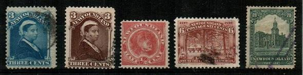 Newfoundland - used lot - see description (Catalog Value $44.50)
