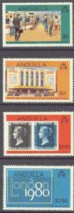 ANGUILLA 371-74 MNH 1979 London 80' Philatelic Exhibition