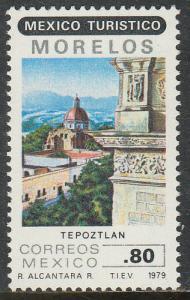 MEXICO 1190, Touristic sites, TEPOZTLAN. MINT, NH. F-VF.