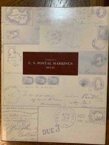 US Postal Markings 1851-1861 by Simpson 1979 w/dust jacket, Stamp Philately Book