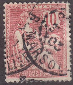 France 133 USED 1902 The Rights of Man
