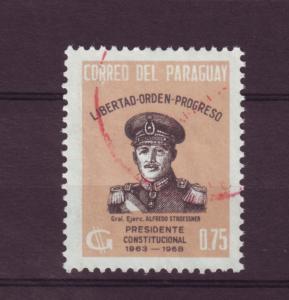 J10535 JL stamps @20%scv 1963 paraguay used #768 president