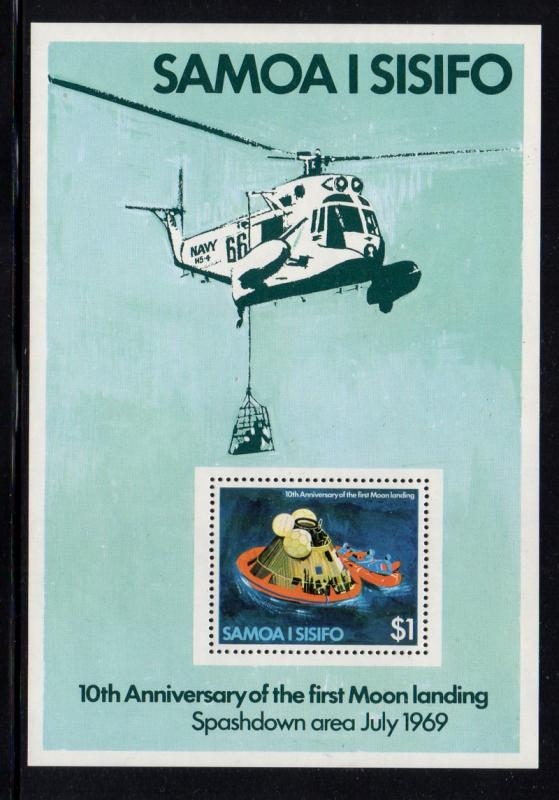 Samoa Sc 512a 1979 10th Moon Landing stamp sheet mint NH