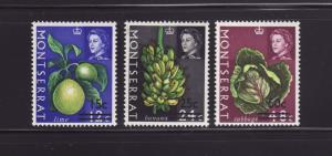 Montserrat 193-195 MNH Fruits and Vegetables