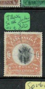 TANGANYIKA (P3006B)  KGV  GIRAFFE L1 SIDE WMK SG 88   VFU