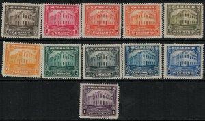 Nicaragua 1930 SC 525-535 Mint SCV $54.00 Set