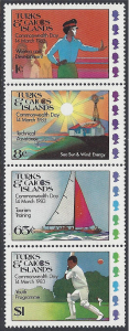 Turks $ Caicos #558a  Mint, Commonwealth Day 1983, issued 1983