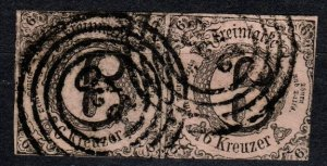 Thurn And Taxis #6  F-VF Used Pair  CV $22.00  (X5190)