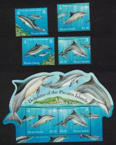 Pitcairn Dolphins 4v+MS SG#849-MS853
