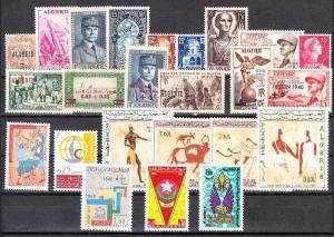Algeria - Mint NH, nice lot of all complete sets (Catalog Value $52.40)