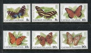 Cayman 386-391, MNH, Insects  Butterflies 1988. x25058