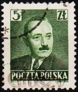 Poland. 1950 5z (Ovpt Groszy) Fine Used