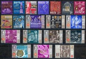 Malta Sc# 312-330 (no 5p 10p) Used 1965-1970 History