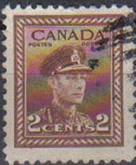CANADA, 1942, used 2c.King George VI , Issued 1 July 1942