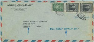 84294 - HAITI  - POSTAL HISTORY - AIRMAIL COVER  to SWEDEN (Till Great Britain)