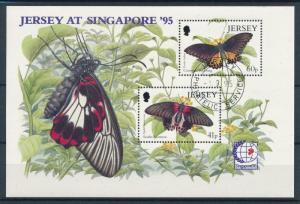 [98647] Jersey 1995 Insects Butterflies Schmetterlingen Used CTO Sheet MNH