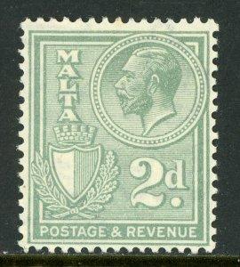 Malta 1930 KGV 2p Gray Scott 171  Mint A140 ⭐⭐⭐