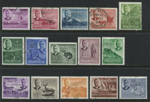 Mauritius KGVI 1950 complete set used