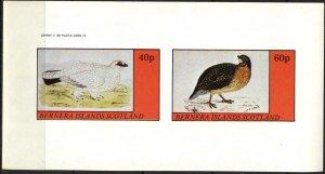 {B192} Bernera Scotland Birds (6) Sh.2 Imperf. MNH Cinderella !!