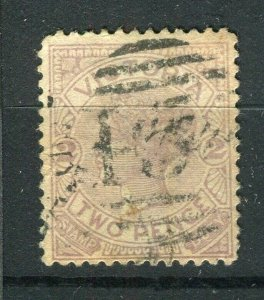 AUSTRALIA; VICTORIA 1880s early QV issue used 2d. value + POSTMARK