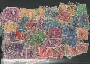Germany AM - Lot of 550 stamps (Z523), off paper, high cat value