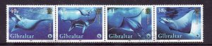 Gibraltar-Sc#1037-used set-Marine Life-WWF-Giant Devil Ray-2006-