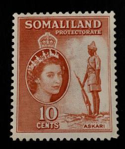 Somaliland Protectorate Scott 129 QEII Definitive-NG