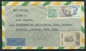 BRAZIL BELEM PR 9/18/46 R-AIR MAIL COVER TO GUTENBERG AS SHOWN 3