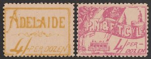 SOUTH AUSTRALIA : Tramways: Early 1900s pictorial tickets. SCARCE!