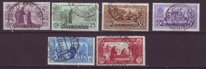J24782 JLstamps part of set 1931 italy used #258-63 designs