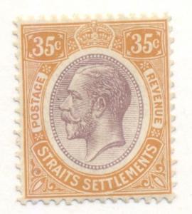 STRAITS SETTLEMENTS #196 Mint Hinged, Scott $14.00