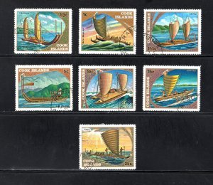 Cook Islands, Scott 357-363,   VF, Used,  Historic Sailing Ships   ..... 1500135