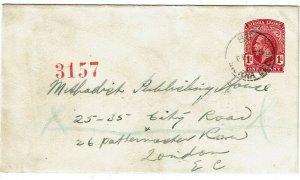 Sierra Leone 1914 Bo cancel on stationery envelope to England