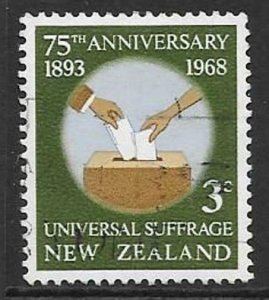 NEW ZEALAND SG890 1968 UNIVERSAL SUFFRAGE IN NEW ZEALAND FINE USED