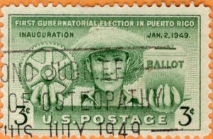 Scott 983 First Gubernatorial Election in Puerto Rico  Used