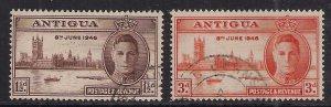 Antigua 1946 KGV1 Set of Victory SG 110 -111 ( J521)