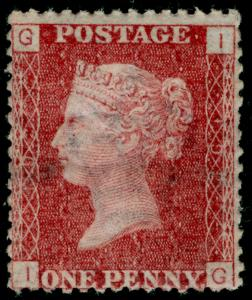 SG43, 1d rose-red PLATE 192, LH MINT. Cat £65. IG