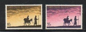 Christmas Island Sc 63-64 1975 Christmas stamp set mint NH