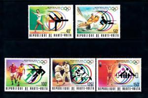[55708] Burkina Faso 1976 Olympic games Gymnastics Sailing Football Judo MNH
