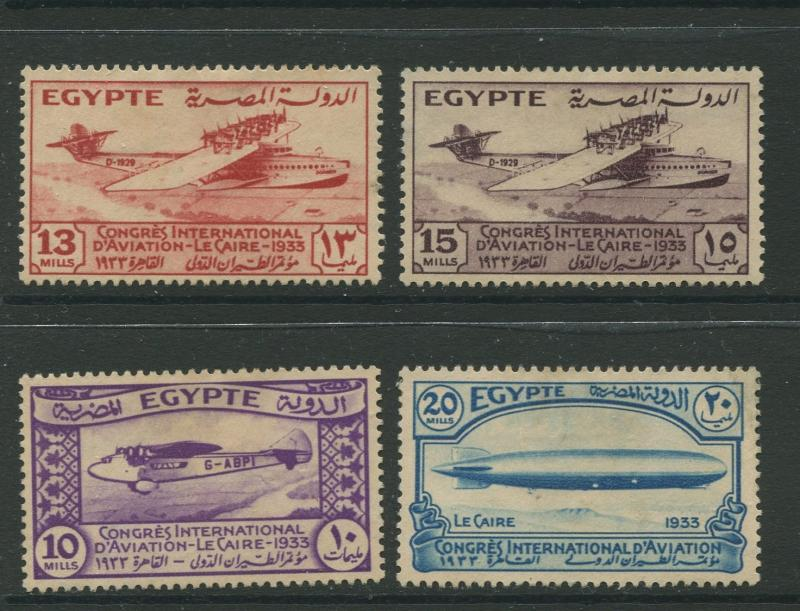 Egypt - Scott 173-176 - General Issue -1933 - MNG - Short Set of 4 Stamps