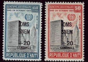 Haiti CB35-CB36 Mint VF SCV$3.85...Such a Deal!