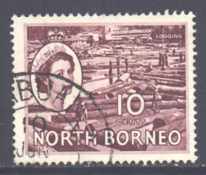 North Borneo Scott 267 - SG378, 1954 Elizabeth II 10c used