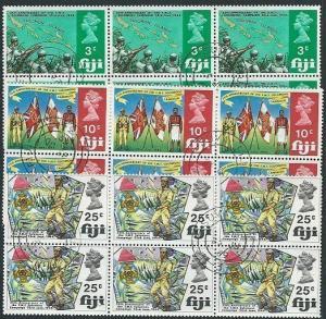 FIJI 1969 25th Anniv Fijian Forces set blocks of 6 fine used...............41423
